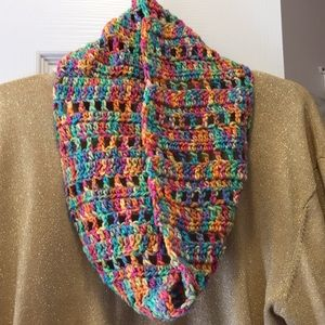 Popping color cowl scarf